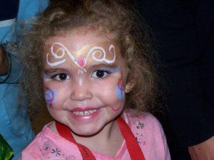 face paint girl KAN client