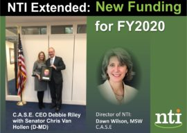 NTI Extended with New Funding for FY2020