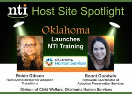 Oklahoma DHS Hosting NTI Training for all Child Welfare and Mental Health Professionals Statewide!