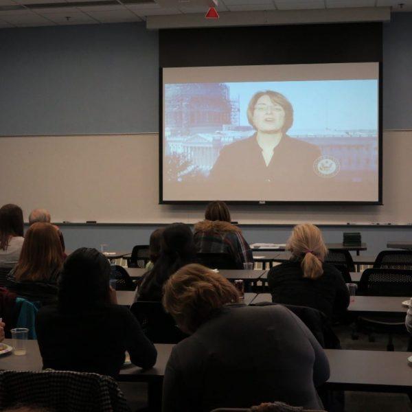Senator Amy Klobuchar congratulates TAC cohort in Minnesota