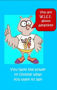 WISE UP poster for foster care