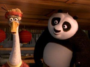 Kung Fu Panda 2 Po and Mr. Ping