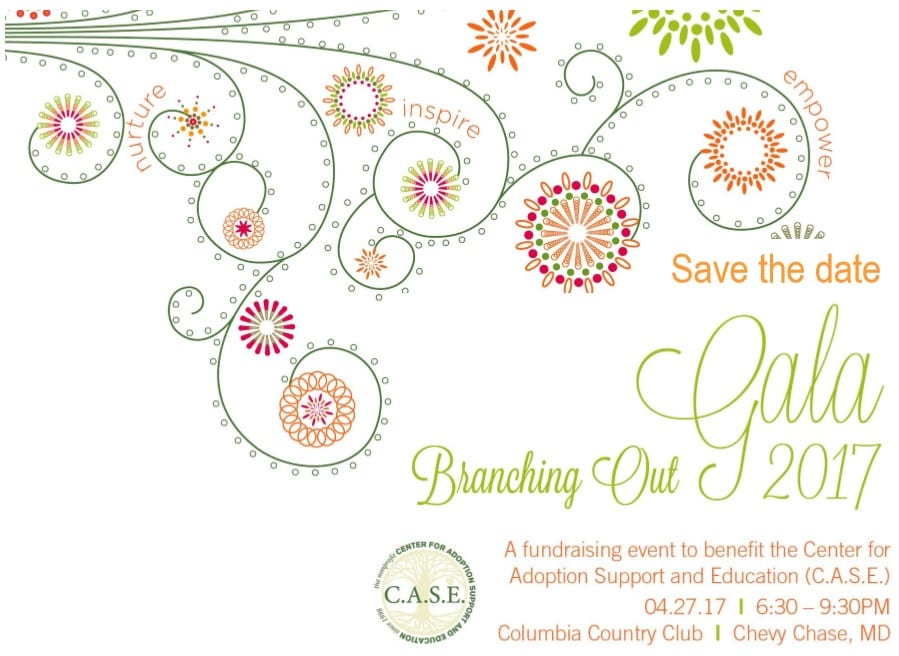 Gala save the date graphic image