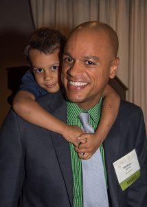 Matt McGuire with son