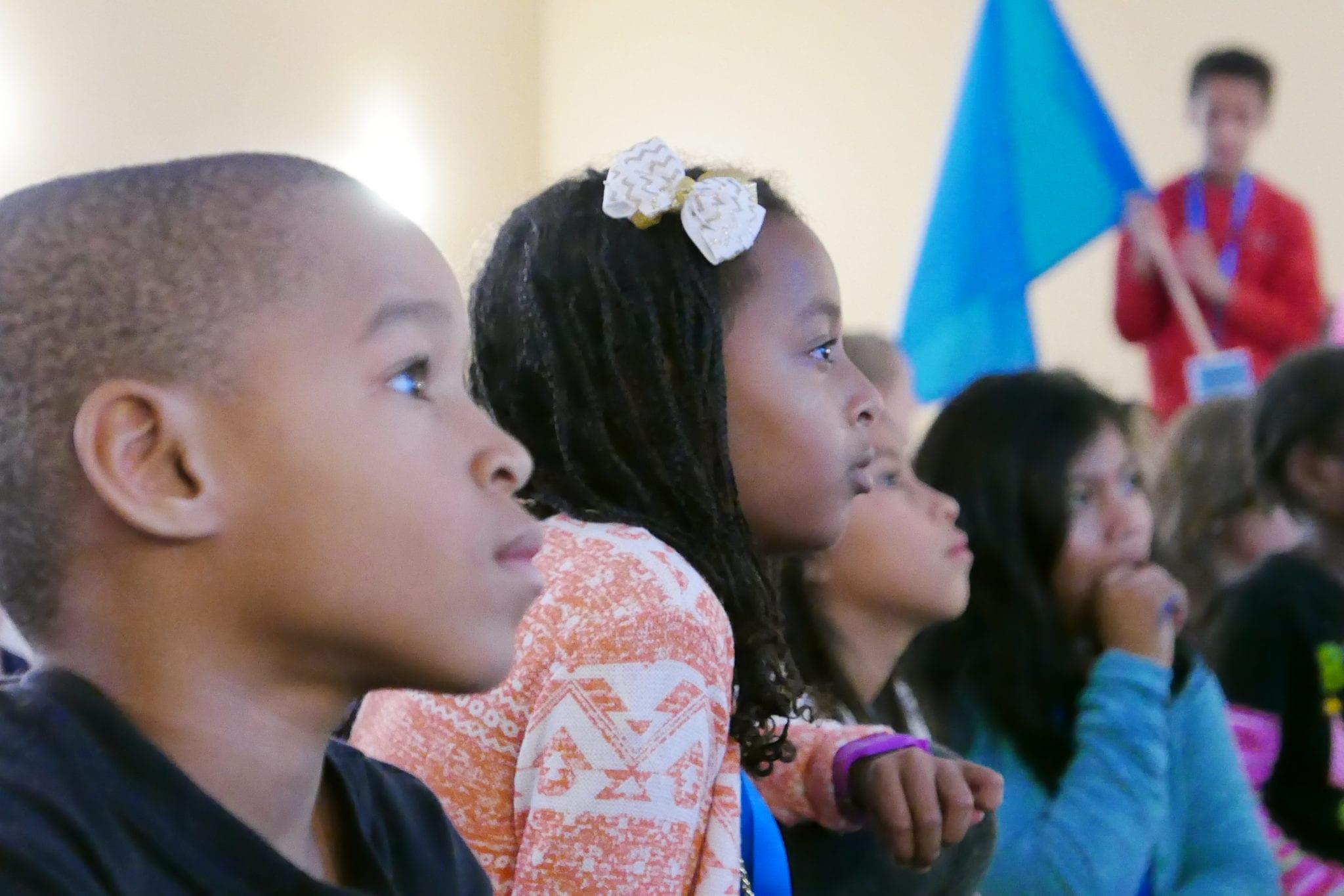 Kids In Audience Listening