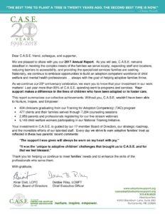 2017 Annual Report Cover Letter Website - C.A.S.E. - Nurture ...