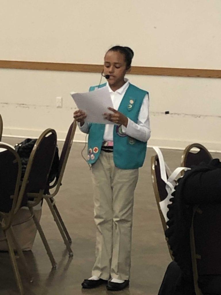 Brianna Girl Scout Speech