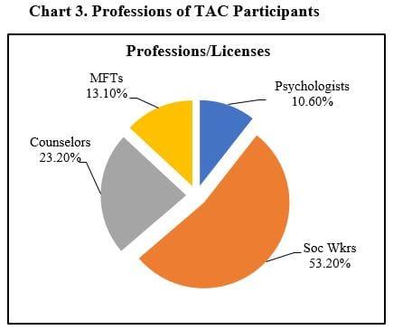 TAC Participants Professions Chart