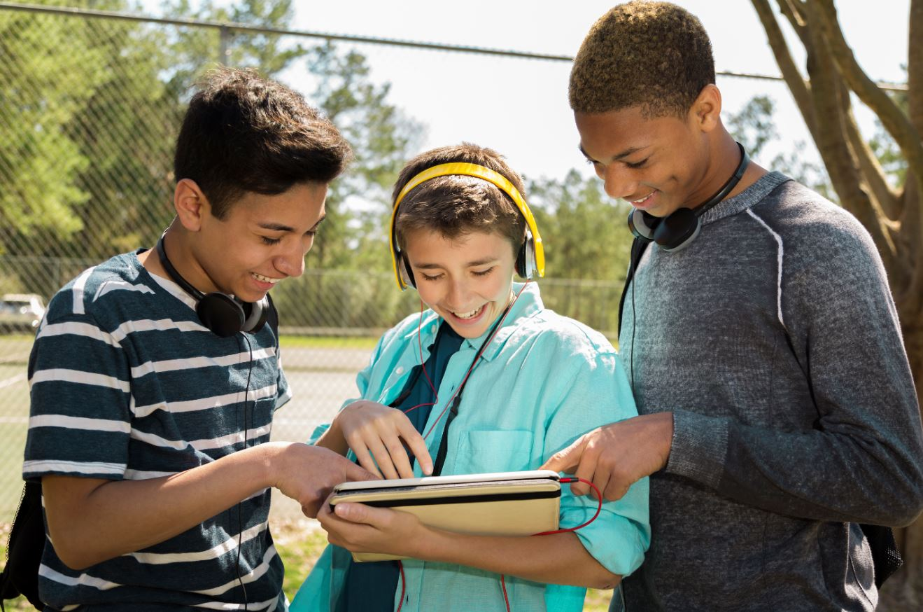 Three Multi Ethnic Teen Boys