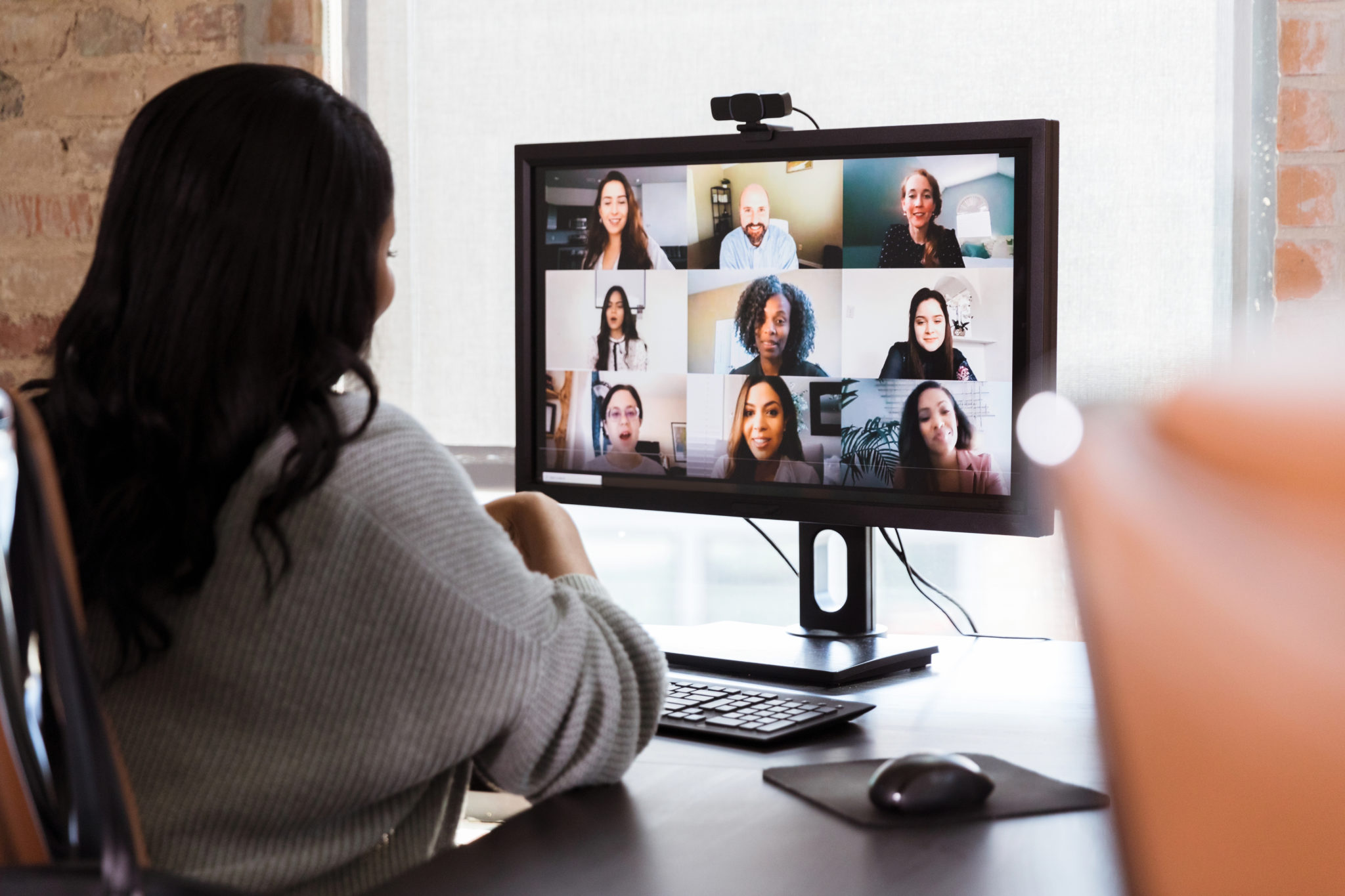 Diverse Adults Virtual Meeting